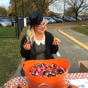 Trick-or-Treat Night 2015- Darcy, a great volunteer!