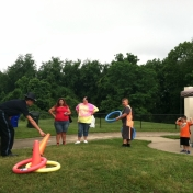 Summer Safety Fair 2015- ring toss sponsored by CareSource